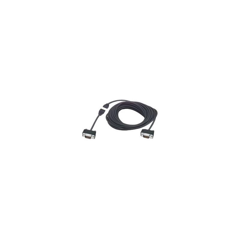 Halogenfrit VGA kabel med stiksamling. 8 meter adskilleligt VGA DB15HD kabel