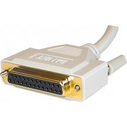 Seriell RS232-kabel SUB-D DB25 sin / honkabel, alla pinnar är anslutna, 5 meter