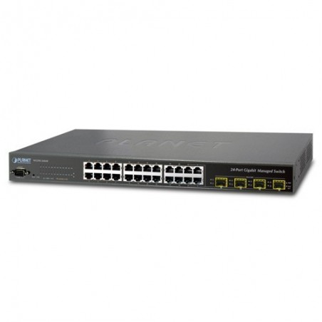 24 ports switch Gbit RJ45 + 4 x 10Gbit TP/ SFP - Managed