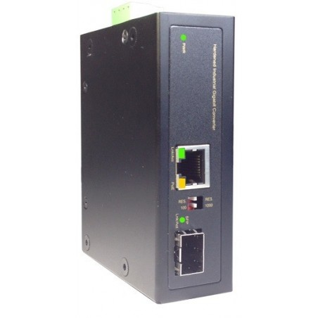 Mediekonverter RJ45 10/100/1000Mbit til Fiber, SFP Gbit, PoE+