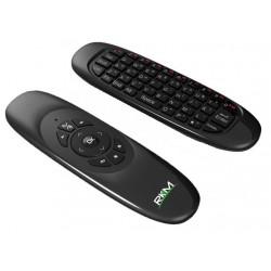 Handhållen trådløst 3 i en mus fjärrmanövre och tangentbord, USB, svart