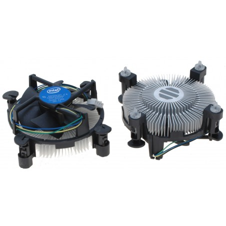 Intel CPU køler, Intel E97379-001 Core i3/i5/i7 Socket 1150/1155/1156. 4-Pin Connector CPU Cooler med Aluminum Heatsink