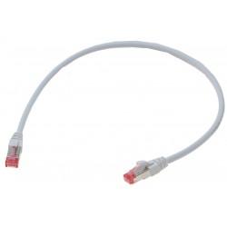 Brandhæmmende netværks datakabel RJ45, Cat. 6A/7,SSTP, Blyfri LSFRZH (Low Smoke Fire Retardant Zero Halogen) kappe, Hvid, 1,0M