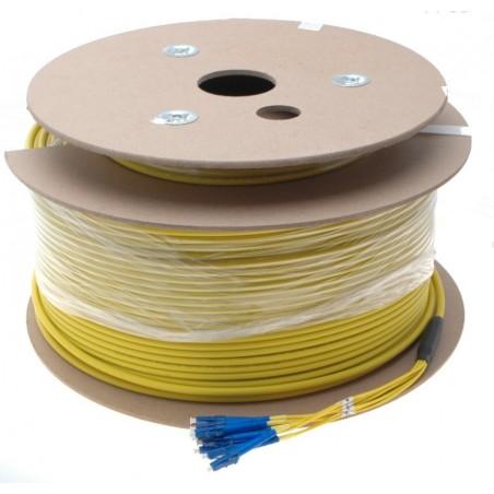 8 Core fiberkabel single mode 9/125, LSZH, 8 x LC stik, gul, 200 meter
