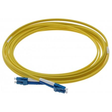 Singlemode LC fiber patchkabel, 9-125 μm, 0,5 meter