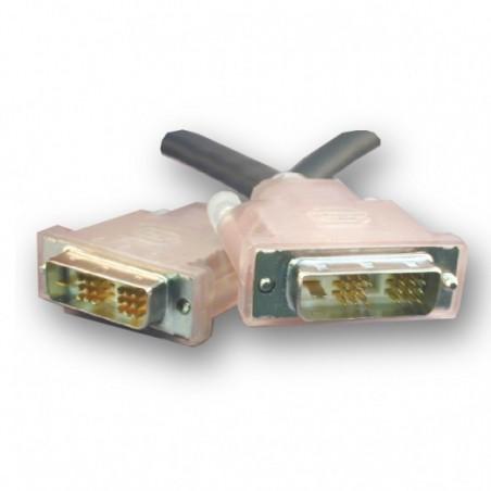 SLAC DVI kabel, DVI-D han til DVI-D han, Single Link. Til lange kabeltræk, sort, 20m