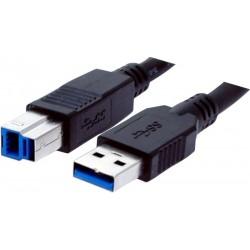 USB 3.0 kabel, A han – B...