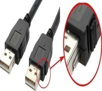 USB kabler m. lås/ skruer