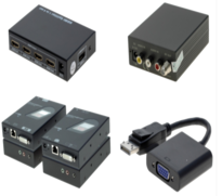 Video extender, -splitter, -konverter, Video Wall